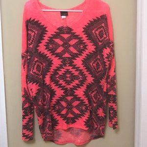 Pink tribal long sleeve